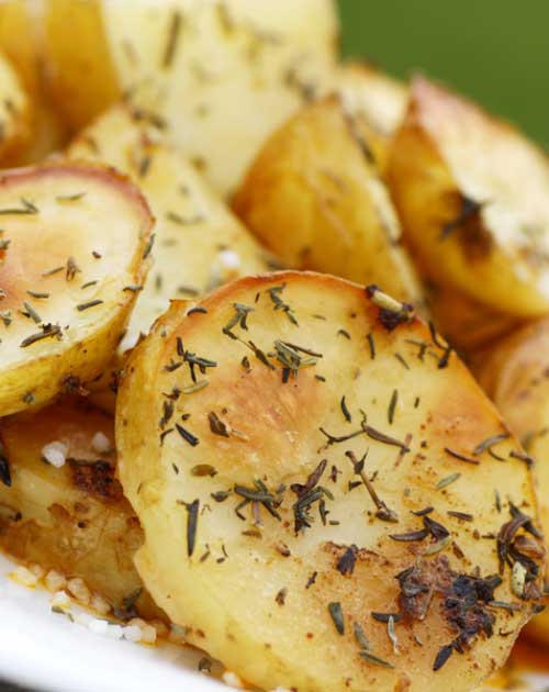 Roasted to perfection with lemon, oregano and garlic. These potatoes are sure to have your family asking for seconds.