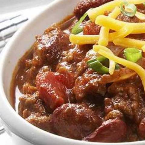 Recipe for Touchdown Chili - This chili is so quick and easy to prepare that you won't miss one second of the game.