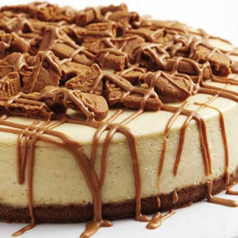 Recipe for Cookie Butter Cheesecake - Cookie butter. Cheesecake. Delicious on their own. Put them together, and you end up more than happy.