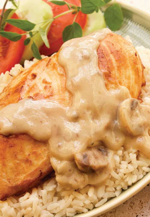 Spoon this rich and creamy chicken mixture over pasta, rice or biscuits for a home-style dinner that's sure to satisfy your need for comfort food.