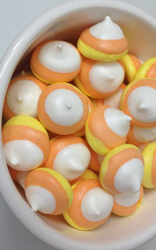 Recipe for Candy Corn Kisses - These kisses are so cute, and look just like candy corns.