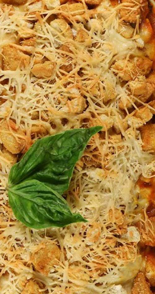 It is so much simpler to make this casserole instead of traditional chicken parm, but everyone will still be impressed when you pull this gorgeous casserole out of the oven.