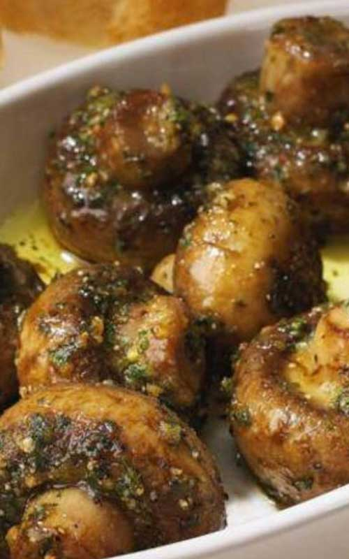 These Roasted Garlic Mushrooms taste amazing, and I could literally have them for a side dish every single day.
