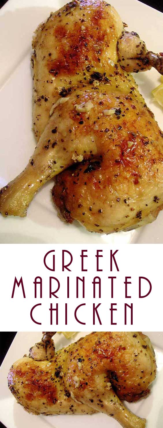 The marinade takes just a few minutes to stir together and creates an absolute explosion of flavor. This Greek Marinated Chicken is beyond incredible. #chicken #dinnerideas #greek