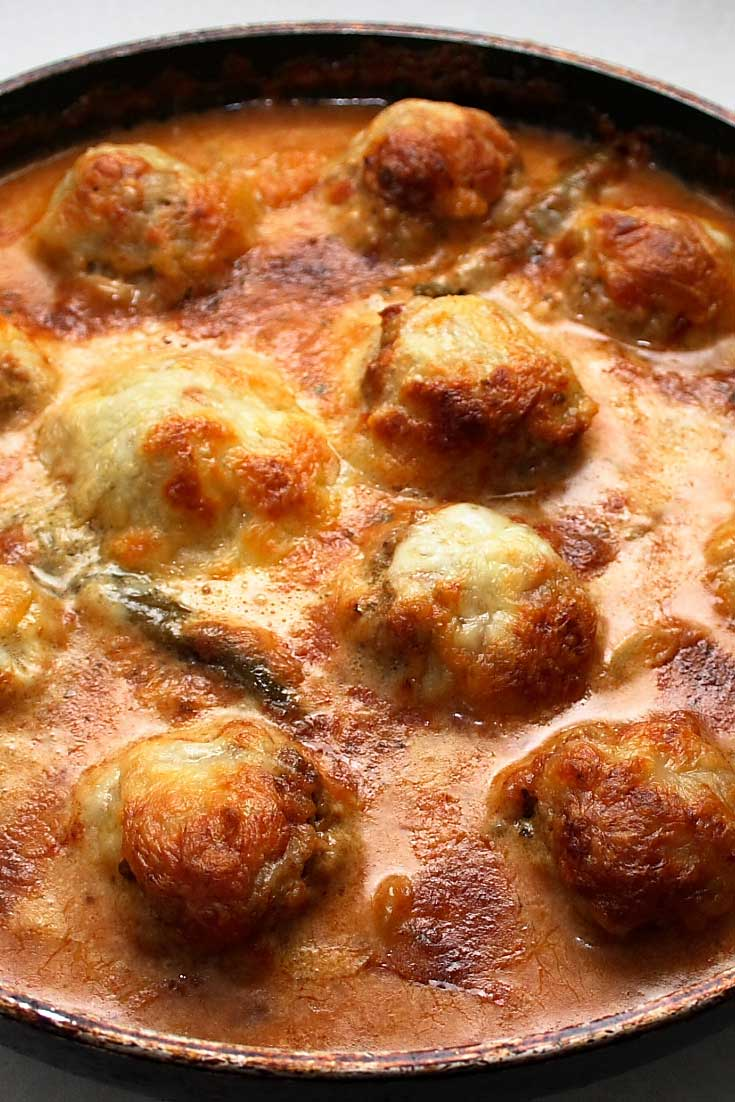 ThisMeatballs Toscana is so easy to make...and so good you may just end up eating right from the skillet! #meatballs #dinnerideas #Italian
