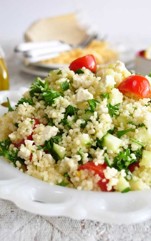 Mediterranean Couscous Salad with Feta Cheese