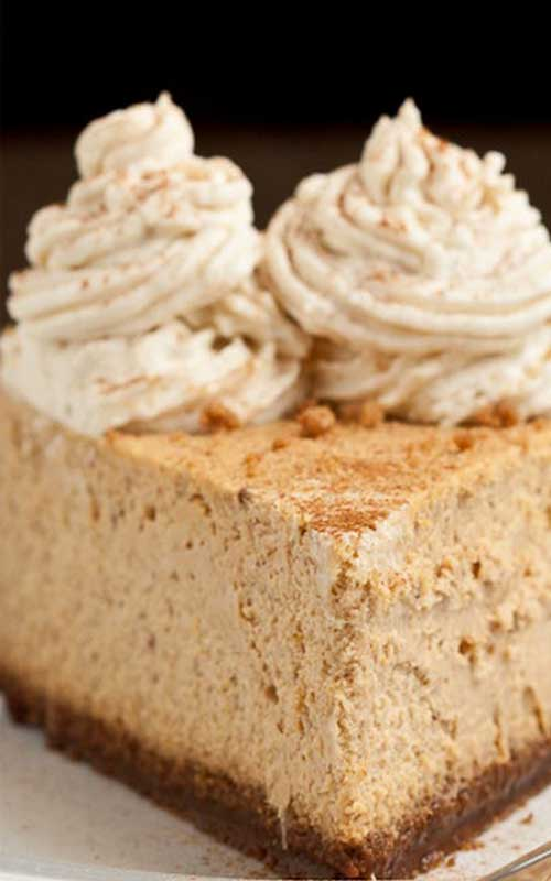 Recipe for Copycat Cheesecake Factory Pumpkin Cheesecake - Every bit as good or better than Cheesecake Factory's seasonal pumpkin cheesecake.