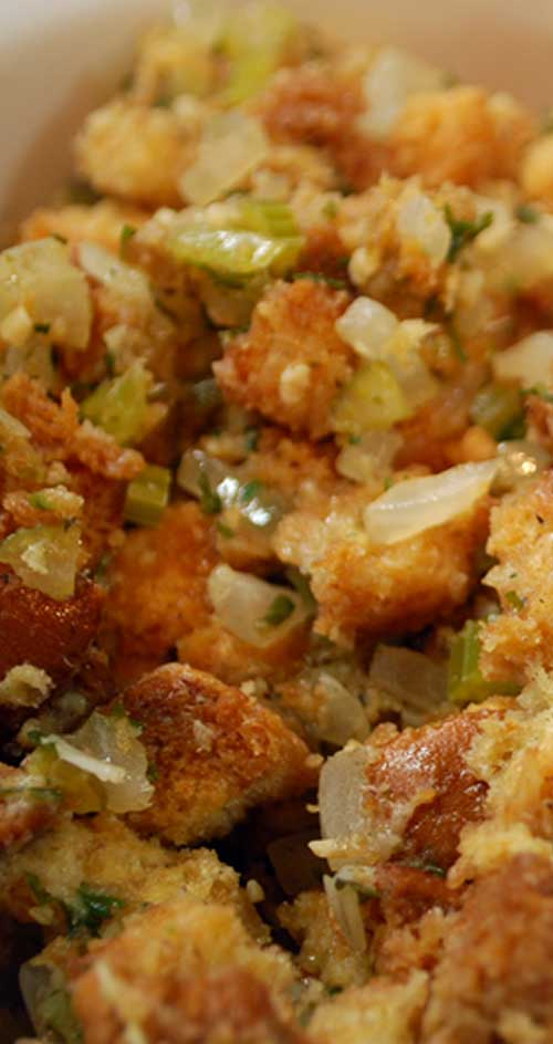 I love homemade stuffing but sometimes I crave the kind that comes in a box. This recipe is like getting the best of both worlds.