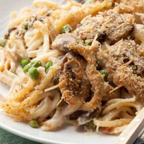 Recipe for Tasty Turkey Tetrazzini - After a few rounds of leftovers, it's great to be able to taste new flavors. This Turkey Tetrazzini does that in easy, one-dish meal.