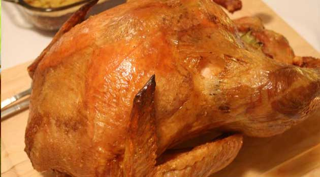 Recipe for Roasted Dry-Brined Turkey with Pan Gravy - Needless to say, the star of Thanksgiving is the turkey. This recipe is a great way to get delicious, moist meat.