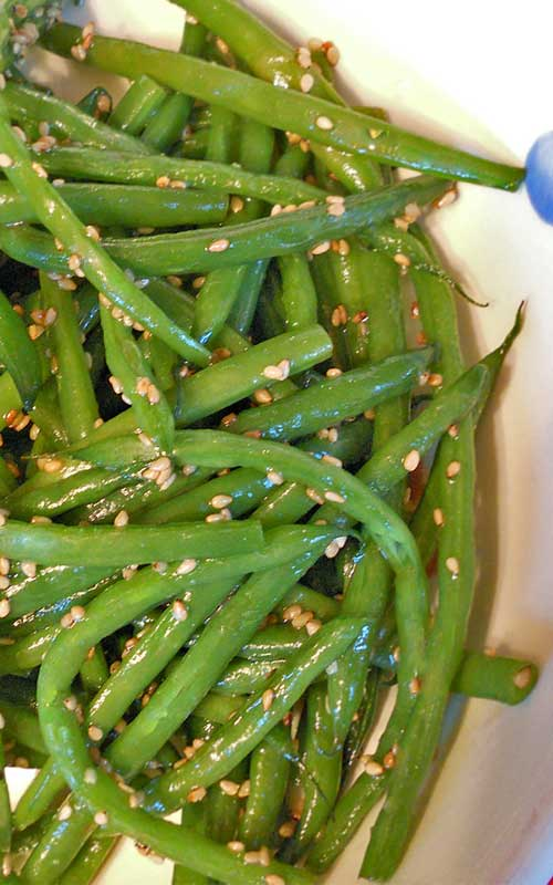 A quick and easy side dish recipe. These Sesame Green Beans are a perfect compliment to any holiday spread.