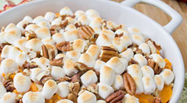 Recipe for Sweet Potato Casserole - With three simple steps and six ingredients, this sweet potato casserole is sure to become a staple in your holiday meal plans.
