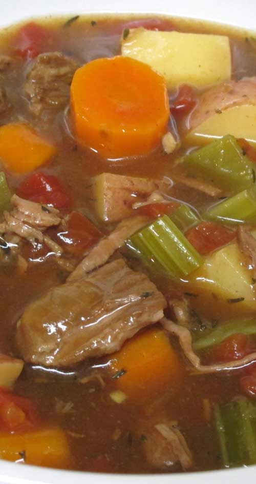This is a very basic beef stew. It's easy, delicious and inexpensive to make. It's hard to improve on this version's savory and comforting goodness.