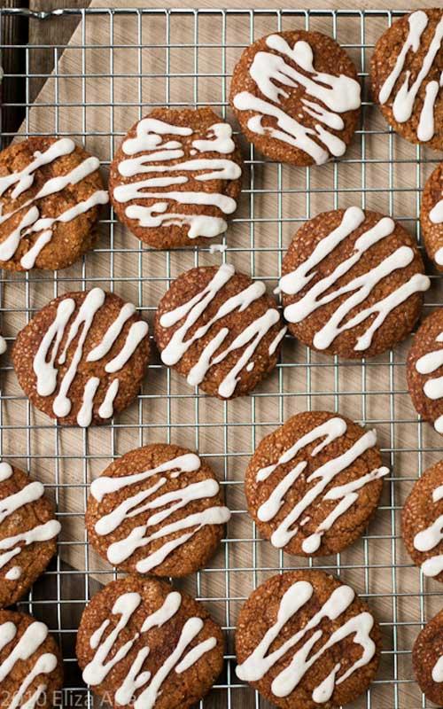 Iced-lemon Ginger Cookies