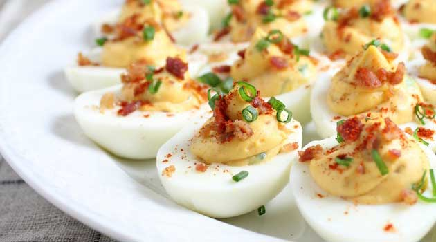 Recipe for Smoky Deviled Bacon And Eggs - These yummy deviled eggs went over so well at our summer cookouts, I started making them for holiday dinners as well. Everyone likes the addition of crumbled bacon.