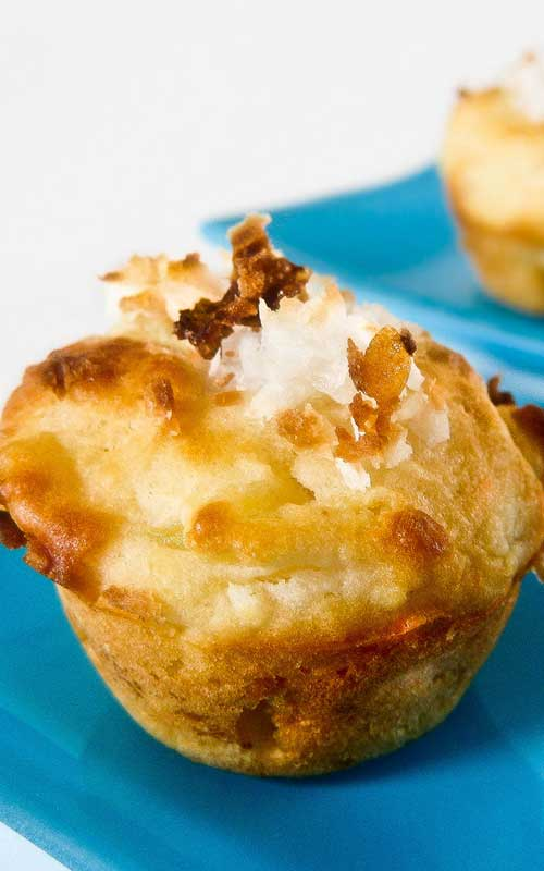 Pina Colada Mini Muffins