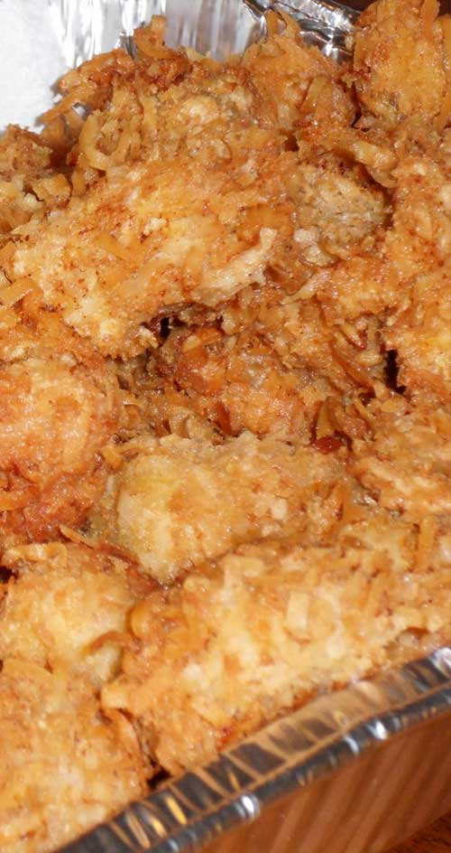 Recipe for Coconut Crusted Halibut - Do you love coconut shrimp as much as we do? If so, then you'll love this healthy twist on the well- known recipe.