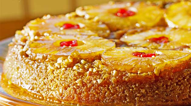 Recipe for Pineapple Upside Down Cake - This classic favorite has made a comeback. Here is an easy recipe for super-moist homemade pineapple upside-down cake!