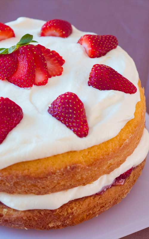 Strawberry shortcake is the iconic strawberries and cream dessert, and for good reason, but for me, this cake is a step above.