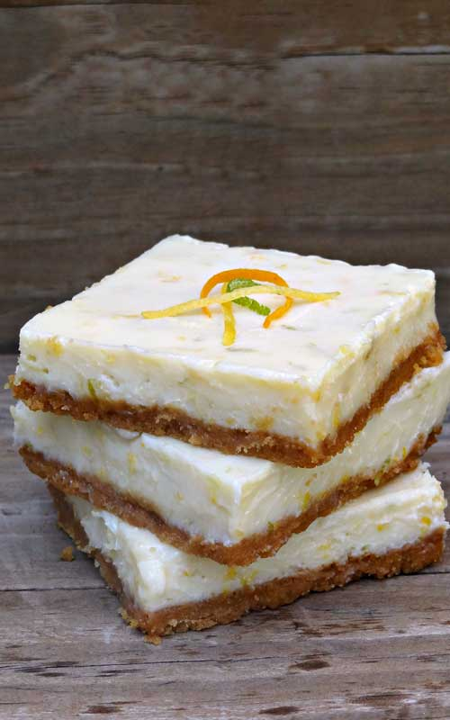 I'm sure you have had lemon bars a million times.  And, they are delicious, one of my favorites.  But, next time you have a taste for citrus…change things up a bit and try these triple citrus bars. You won't be sorry.