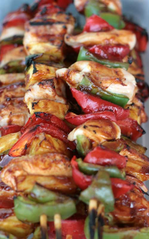 Brush on a delicious sauce and grill up these tasty Sweet BBQ Chicken Kabobs in just minutes.