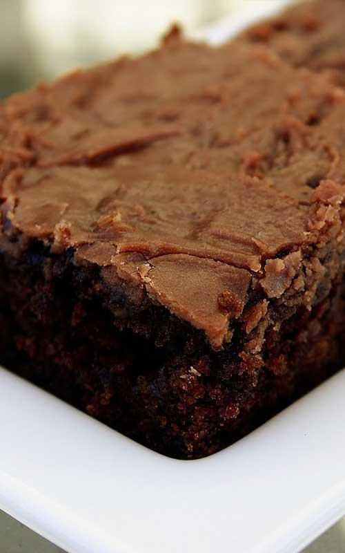 Texas Sheet Cake Brownies With Coffee