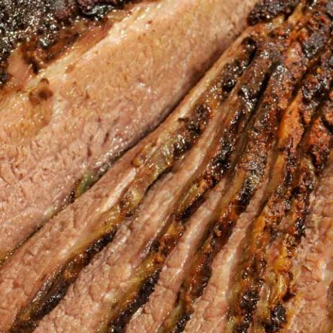 "Recipe for Oven-Roasted Brisket - This oven-roasted brisket recipe is a favorite for Sunday dinner, a summer barbecue party, or a holiday feast. You could even call this a ""lazy"" brisket recipe, since you can make this with no smoker, no grill, and no tending to a barbecue pit!"