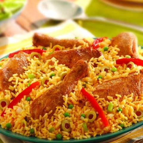 Everyone loves arroz con pollo! Not exaggerating, just stating facts. Here's a recipe for this amazing chicken and rice dish that will definitely have your guests coming back for more time and time again.