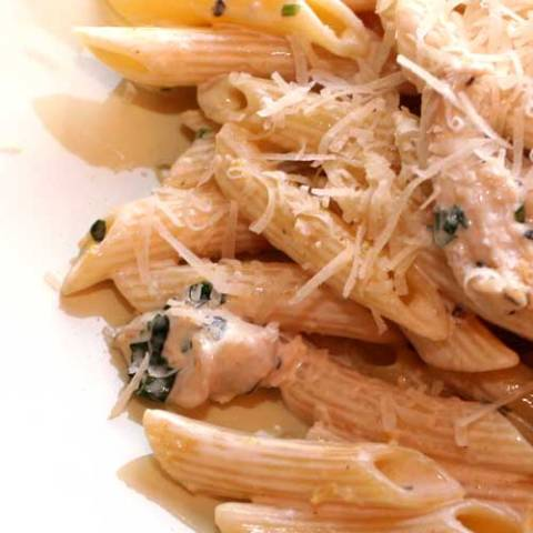 Recipe for Chicken in Lemon Cream with Penne - Easy and perfect for both a weeknight meal and an elegant dinner party. This Chicken in Lemon Cream with Penne recipe is so simple I don't even have any tips!