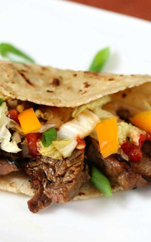 Korean Style Beef Tacos