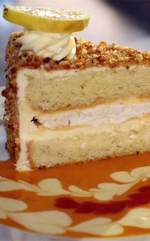 Lemon Praline Cake