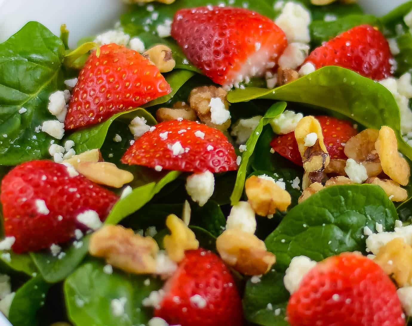 Spinach Strawberry Champagne Salad Flavor Mosaic