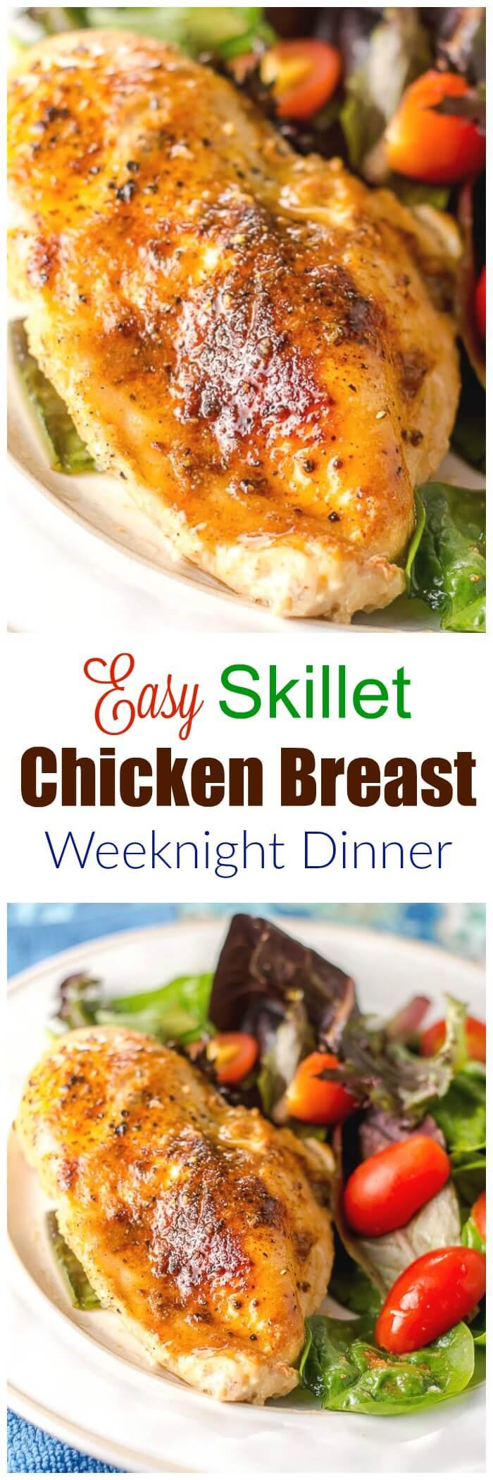 Easy Skillet Chicken Breast Weeknight Dinner - Flavor Mosaic