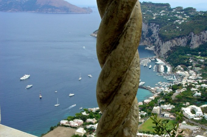 View in Capri overlooking the sea
