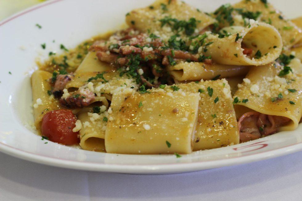 Paccheri with seppie and pecorino , Ristorante Il Grecale, Anzio