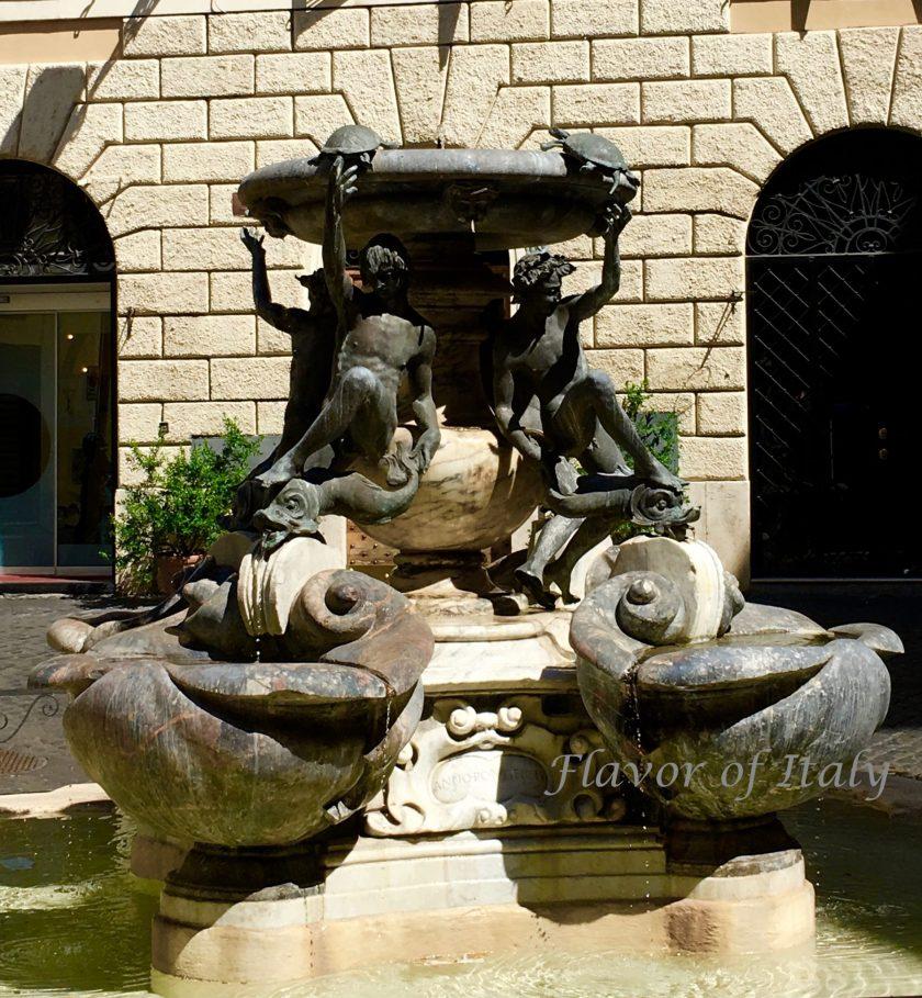 Piazza Mattei Turtle Fountain