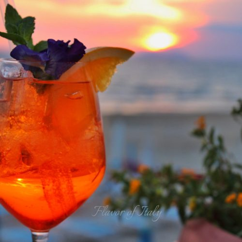 Cocktails at sunset, Hotel Aurora, Sperlonga