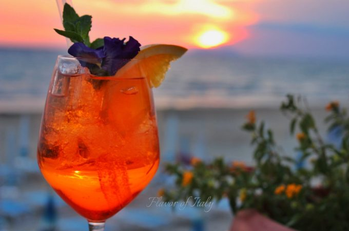 Cocktails at sunset, Hotel Aurora, Sperlonga