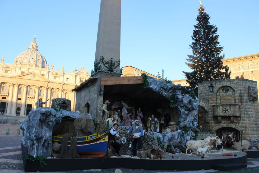 Saint Peters Square at Christmas