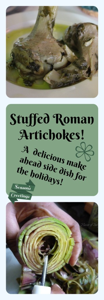 Roman Style Stuffed Artichokes are a scrumptious make-ahead winter vegetable dish!
