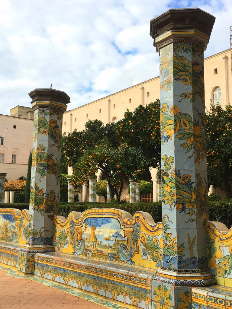 Santa Chiara courtyard in Naples