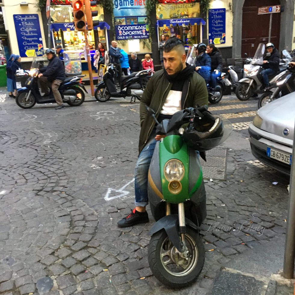 Neapolitans on their scooters