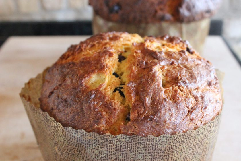 panettone fresh out of the oven