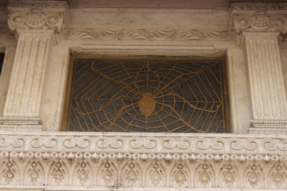 Spider Palazzo Piazza Mincio Coppedé neighborhood