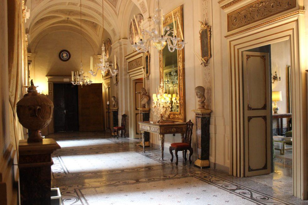 Palazzo Caetani entrance hallway