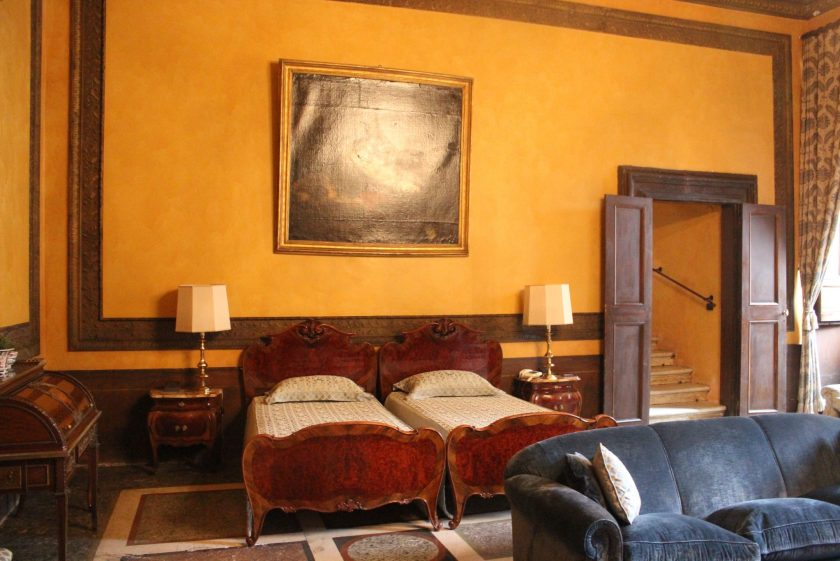 Palazzo Caetani guest bedroom where Caravaggio stayed