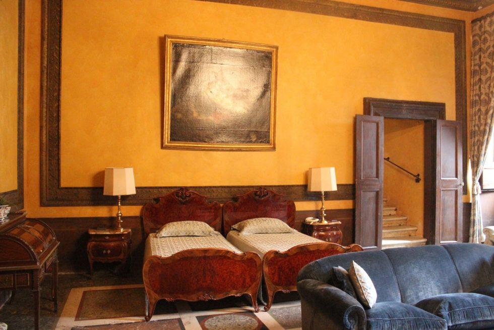 Palazzo Caetani guest bedroom where Caravaggio stayed