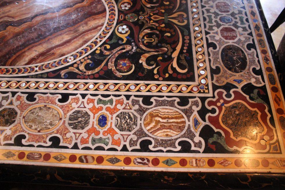 Palazzo Caetani Tapestry Room table