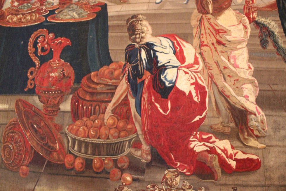 Palazzo Caetani Tapestry Room detail with fruit