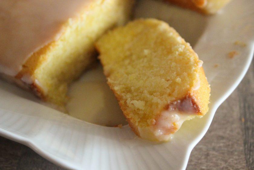 Lemon Poundcake drizzled with a Lemon Glaze